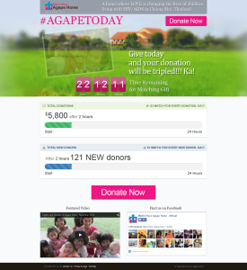 #AGAPETODAY Website Take-over Page