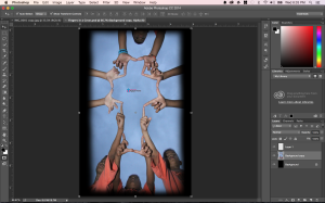 Fingers in a Cross  Photoshop Image